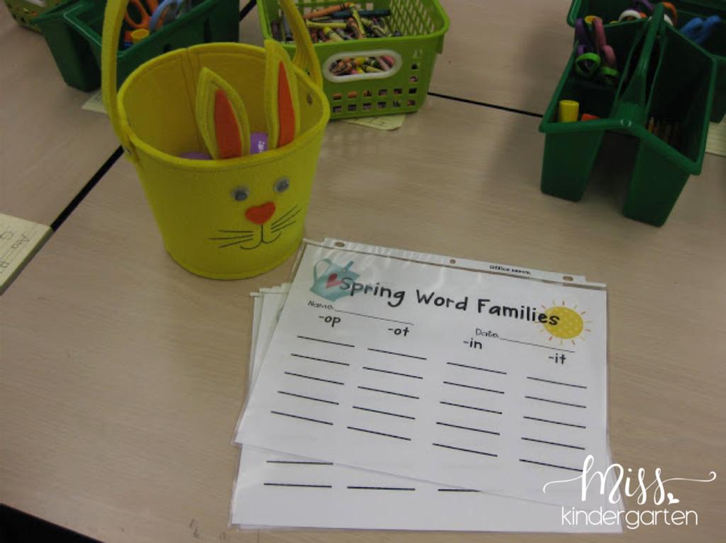 CVC easter egg word families