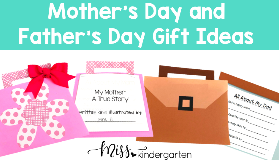Mother's Day and Father's Day gift ideas that are perfect for the primary classroom