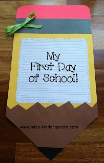 My First Day of School Craft!