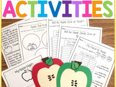 apple activities for science math and art