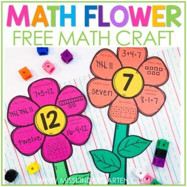 Math Flowers Math Craft Freebie!