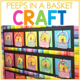 The Cutest Peeps in a Basket Spring Craft