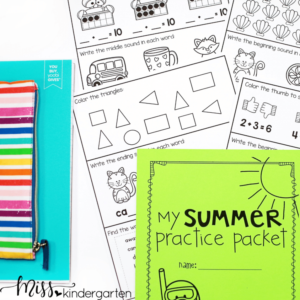 summer math and reading practice is a great way to stop the summer slide
