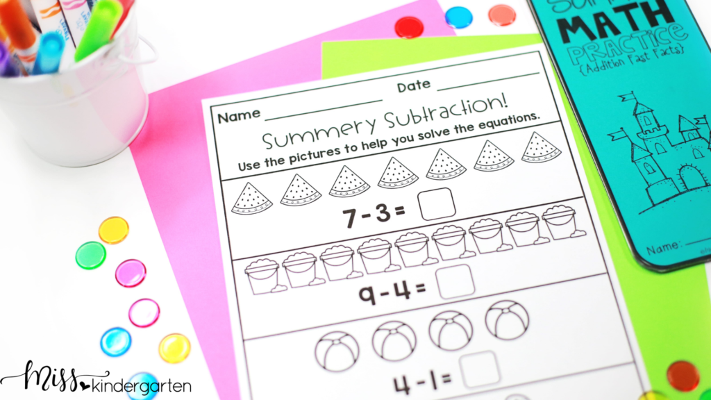 a kindergarten summer review is a fun and easy way for students to avoid the summer slide and practice all the skills they learned in kindergarten