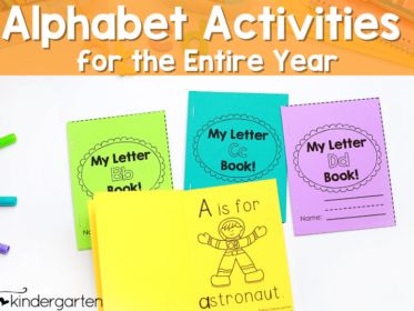 These fun alphabet activities are everything you need for the entire school year.