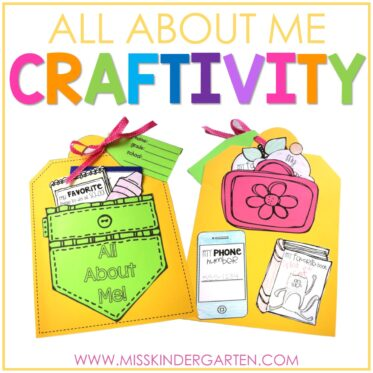 All About Me Back to School Craft