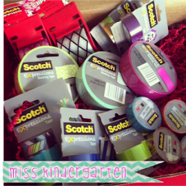 Scotch Expressions Tape {organization ideas!}