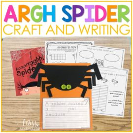 FREE Spider Craft, Math, and Writing Activities