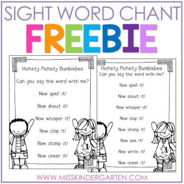 Sight Word Chant