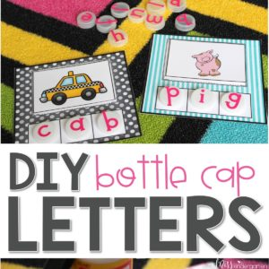 Make your own bottle cap letters