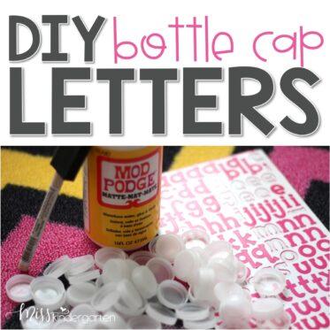 Bottle Cap Letters {diy}