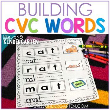 Free CVC Word Builders