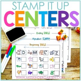 Stamp It Up Kindergarten Literacy Stations