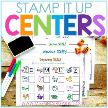 Stamp It Up Kindergarten Literacy Stations