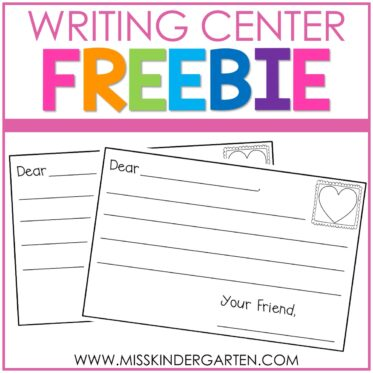 The Sweetest Kindergarten Writing Center