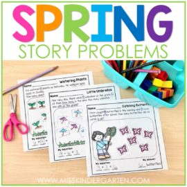 Math Word Problems for Spring