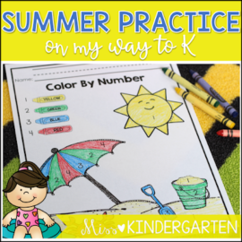 On My Way to K! {summer practice pack!}
