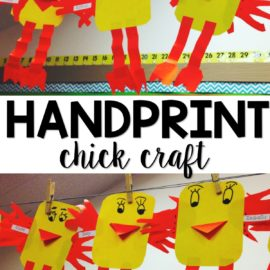 Chick craft for kindergarten