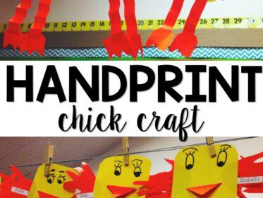 Chick craft for kindergarten