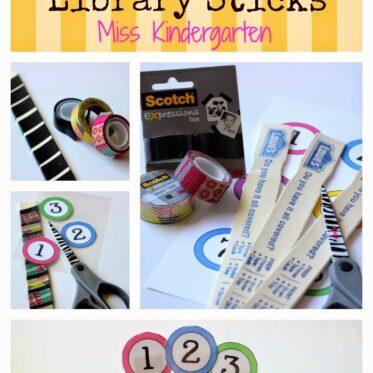DIY Classroom Library Sticks #MakeAmazing