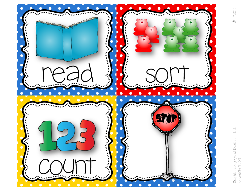 http://www.teacherspayteachers.com/Product/Picture-Direction-Icons-primary-polka-dots-chevron-print-766183