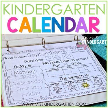 Calendar Time in Kindergarten
