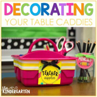 Decorating Table Caddies #makeamazing