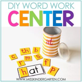 DIY Word Family Activity