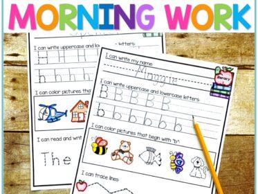 september kindergarten morning work