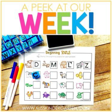 A Peek at Our Week!