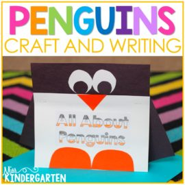 All About Penguins Writing and Craft Freebie