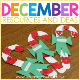 Candy cane craft for December