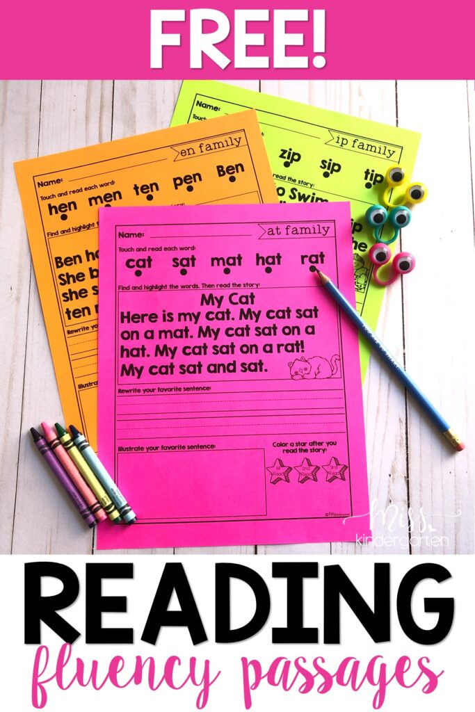 free reading fluency passages