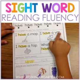 Sight Word Fluency and Reading Intervention