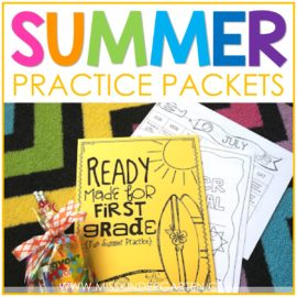 summer practice packets for kindergarten