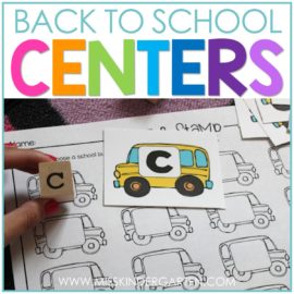Back to School Centers for Kindergarten