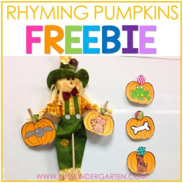Free Rhyming Activities for Fall