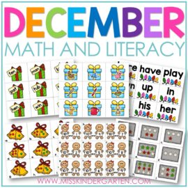 December math and literacy centers