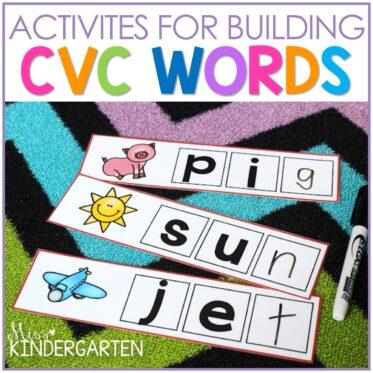 Building CVC Words Activities
