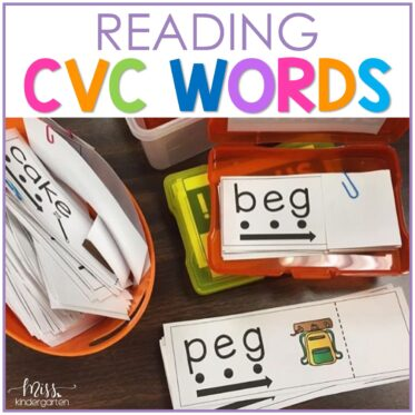 Reading CVC Words with Read and Reveal Cards