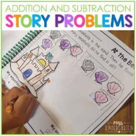 Math Story Problems for Addition and Subtraction to 10