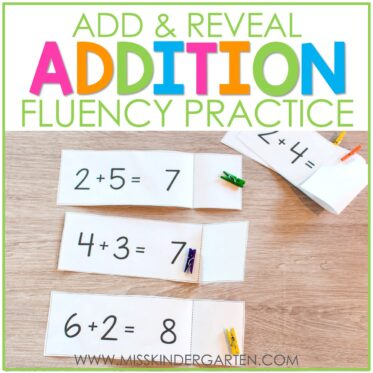 Addition Fluency Practice with Add and Reveal Cards