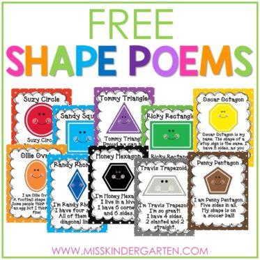 2D Shape Poems Free Download
