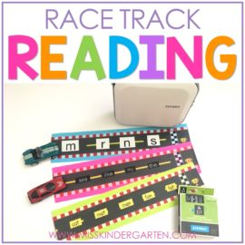 Race Track Reading with DYMO