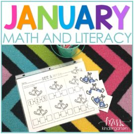 january math and literacy centers