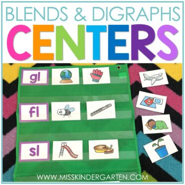 Learning to Read Words with Letter Blends Practice Activities for Kindergarten