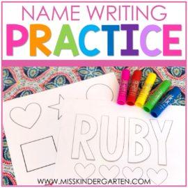 Name Practice with Kwik Stix Paint Sticks