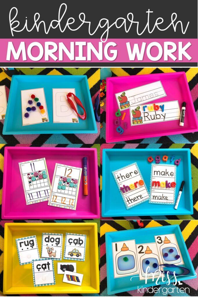 Kindergarten morning work ideas