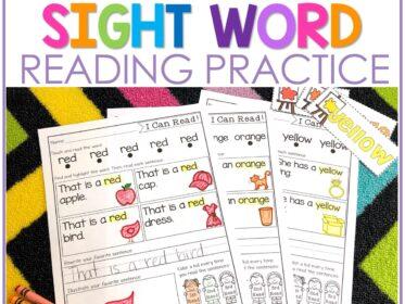 FREE Sight Word Practice for Kindergarten