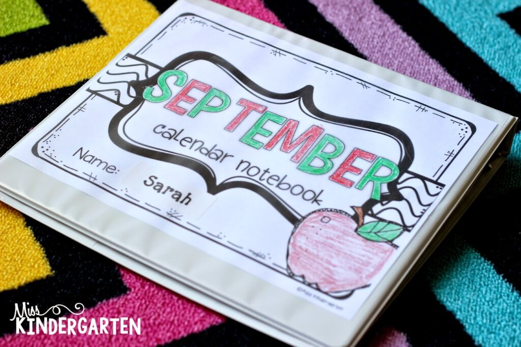 student individual calendar notebook